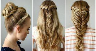 تسريحات بسيطة للشعر الطويل , اشيك تسريحات الشعر الطويل