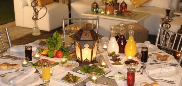 صورة سفرة رمضان , طرق ترتيب السفره باشهي الاطباق