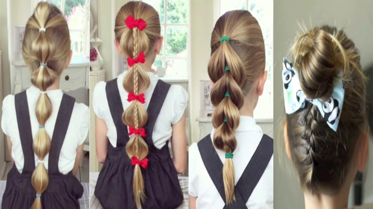 صورة تسريحات شعر للمدرسة سهلة وسريعة بالخطوات , فيديو لاجمل تسريحات شعر للصغار 2107 2