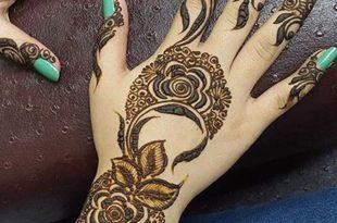 صورة نقشات حناء خليجية , رسوم حنه للعرائس