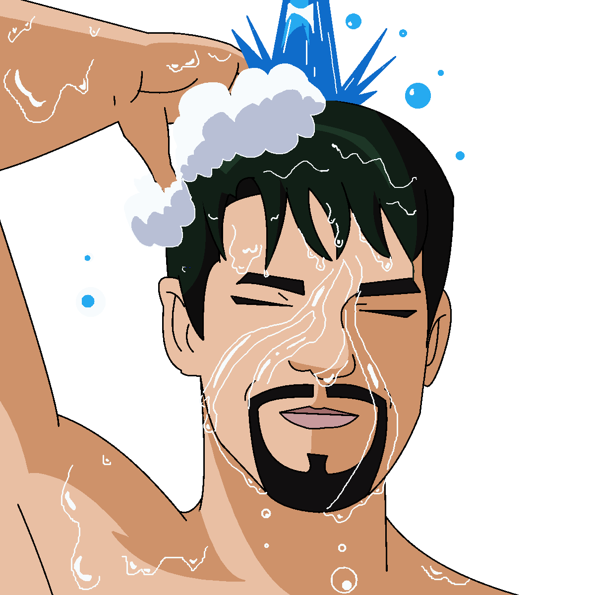 صوره كيفية غسل الجنابة , شاهد الطريقه الصحيحه للاغتسال من الجنابه