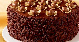 صوره طريقة تزيين كيكة الشوكولاته , طريقة اعداد زينة كيك الشكولاته