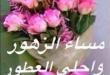 صور مسجات مساء الورد , رسائل رائعة مساء الورد