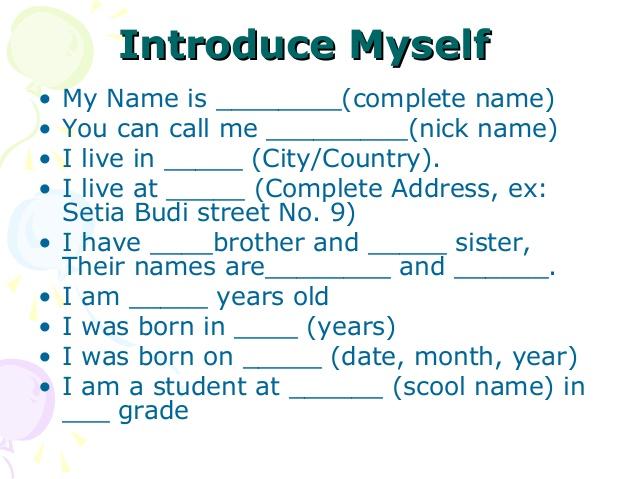 صورة تعبير عن نفسي بالانجليزي , كيف تقدم عن نفسك باللغه الانجليزيه