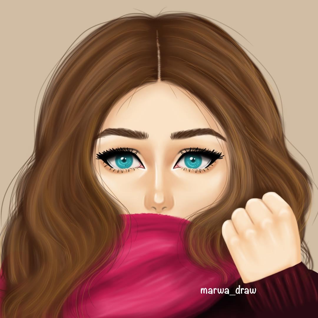 صورة رسومات بنات حلوه , احلى رسومات بنات 736 1