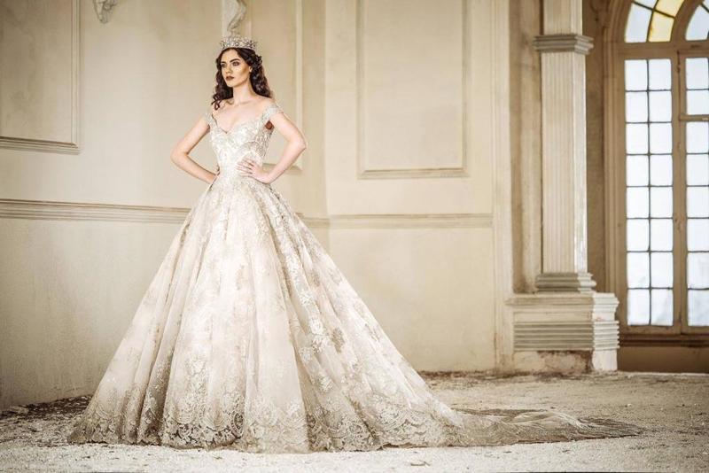 صوره فساتين زفاف فخمه , تالقى كالاميرات مع ارقى فستان زفاف