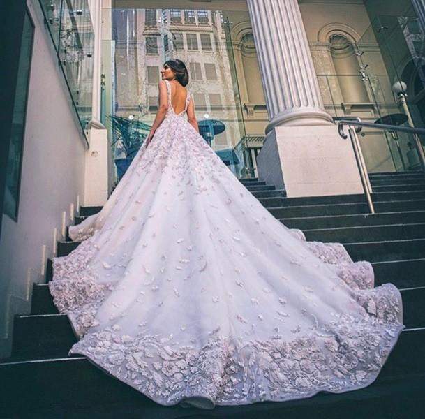 صور فساتين اعراس فخمه , افخم فساتين افراح