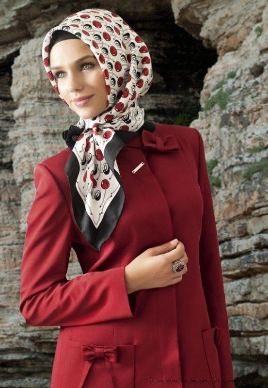 صوره ملابس شتوية للمحجبات تركية , ملابس محجبات شتوي روعة