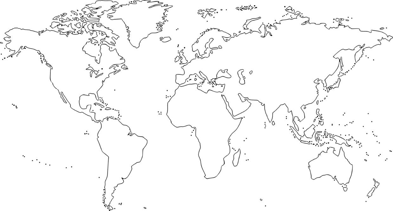 بالصور خريطة العالم صماء , خرائط العالم علي مر العصور والاختلافات فيها 3707 1