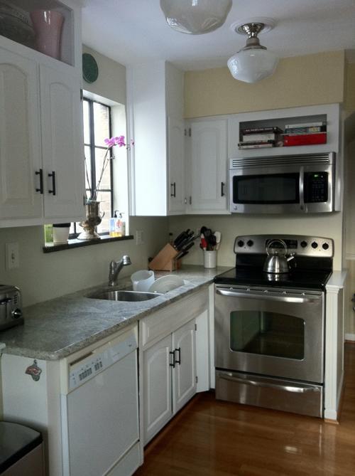 صورة تصميم مطابخ صغيرة , اجمل ديكور لمطبخ للاماكن الصغيرة