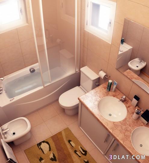 بالصور ديكورات حمامات بسيطة , حمامات جميلة وانيقة بسيطة ورقيقة 419 6