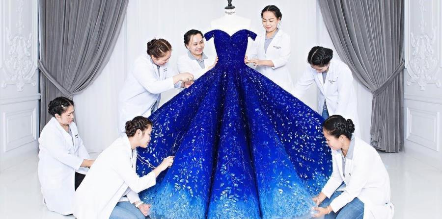 بالصور اجمل فستان في العالم , صورة لاشيك وارق فستان عالميا 478 10
