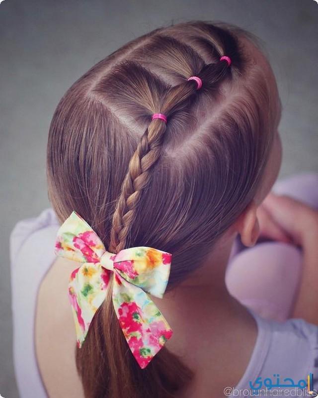 بالصور تسريحات للشعر القصير للمدرسه , تسريحات الشعر المدرسيه لابنتك الصغيره روعه