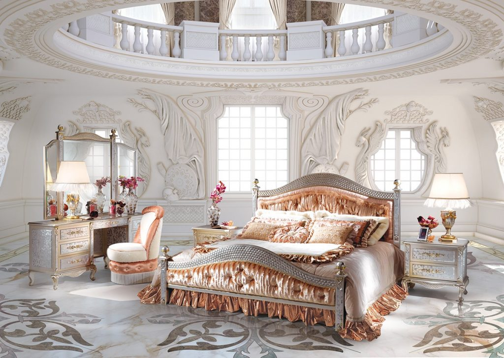 صورة غرف نوم كلاسيك , لكل عروسين افخم غرفة نوم بالصور
