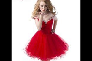 صور احدث فساتين سهرة قصيرة , اروع واجمل الفساتين الرقيقة الجميلة