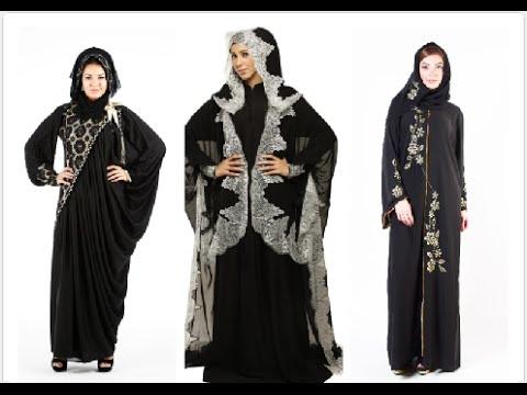 صورة احدث موديلات العبايه الخليجيه , اروع العبايات الخليجية وجمالها