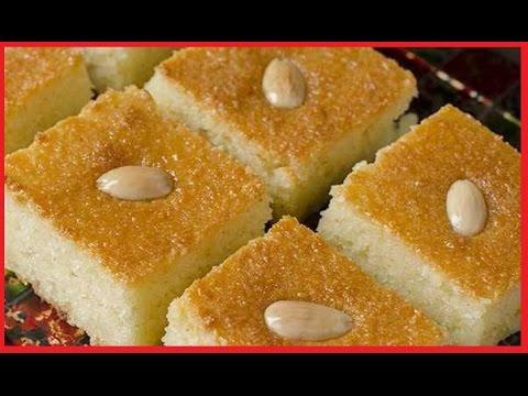 صورة بسبوسة بجوز الهند والزبادي , اروع الحلويات الرقيقة البسيطة