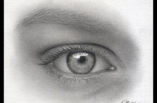 صور رسم العين بالرصاص , اروع الرسومات البسيطة للعين