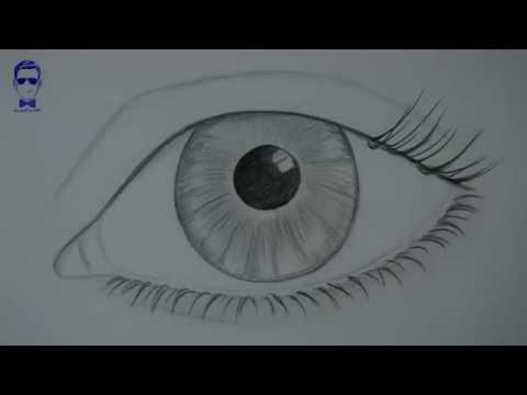 رسم العين بالرصاص اروع الرسومات البسيطة للعين كيف