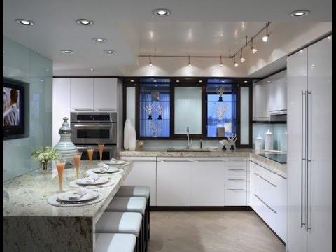 صور تصاميم مطابخ مفتوحة على الصالة , اروع المطابخ الجميلة الرقيقة